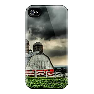 New Design Shatterproof IWE3877bPsF Cases For Iphone 6 (beautiful Barn Under Stormy Skies Hdr)