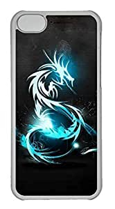 Personalized Custom Dragon for iPhone 5C PC Transparent Case