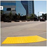 UltraTech 0753 Urethane Retrofit Ultra-ADA Warning Pad with Raised Truncated Dome Design, 3' Length x 2' Width, Yellow