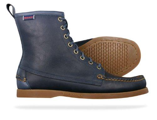 2c78cbb5ba0d1 Sebago Lighthouse Mens Leather Boots Shoes - Blue - SIZE UK 6.5   Amazon.co.uk  Shoes   Bags