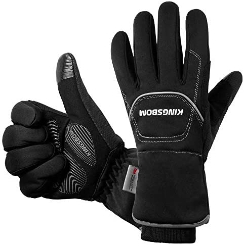 KINGSBOM -40F° Waterproof & Windproof Thermal Gloves - 3M Thinsulate Winter Touch Screen Warm Gloves - for Cycling,Riding,Running,Outdoor Sports - for Women and Men