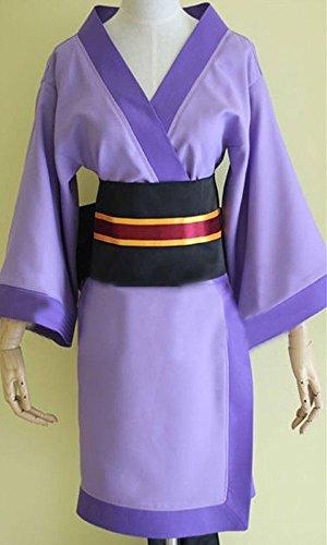 [CosEnter Anime Code Geass C.C. Kimono Bathrobe Cosplay Costume] (Cc Code Geass Costumes)