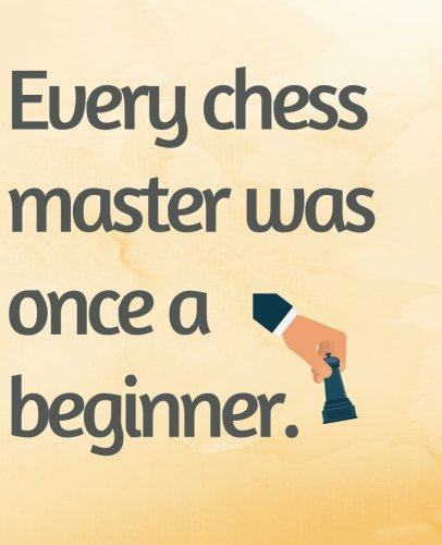 Download Every Chess Master Was Once a Beginner: Quote 120 Pages college notebook wide ruled page pdf