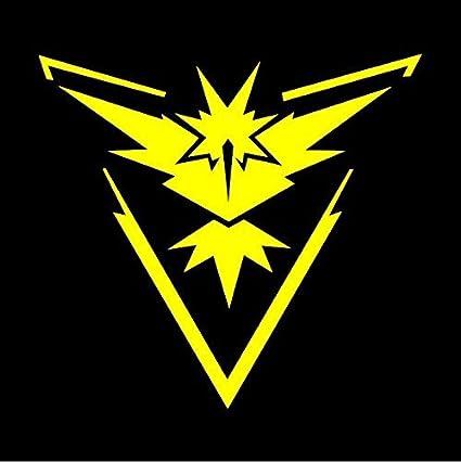 Stickemall Team Instinct Yellow Decal Sticker By Pokemon Go Inspired