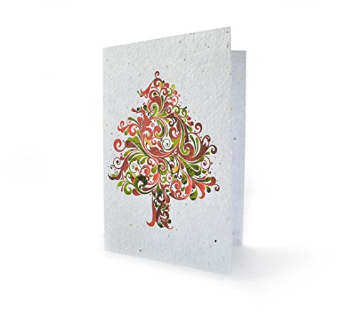 - Bloomin Seeds N' Greetings Cards - Handmade Seed Paper - Holiday Tree {8 Pack}
