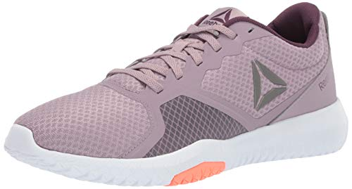 - Reebok Women's Flexagon Force Cross Trainer, Lilac Fog/White/Urban Violet/Pewter/Guava Punch, 5.5 M US