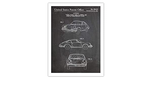 Amazon.com: Porsche 911 Carrera 1964 Patent Art Blackboard 18x24 Print Poster Gift 356 996 997 Turbo Original UNFRAMED: Posters & Prints