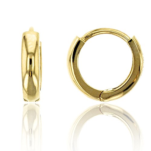 14K Yellow Gold High Polished 2.15x9.00mm Huggie Earring ()