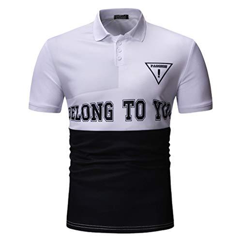 Hurrybuy Men Button Down Printed Shirt Short Sleeve Shirts H