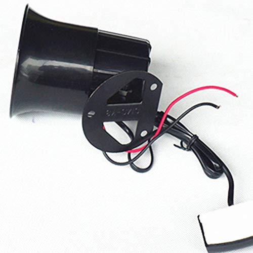 Pratico Auto Moto Allarme Sirena 3 Tone Horn Altoparlante Auto Allarme Corno Nero