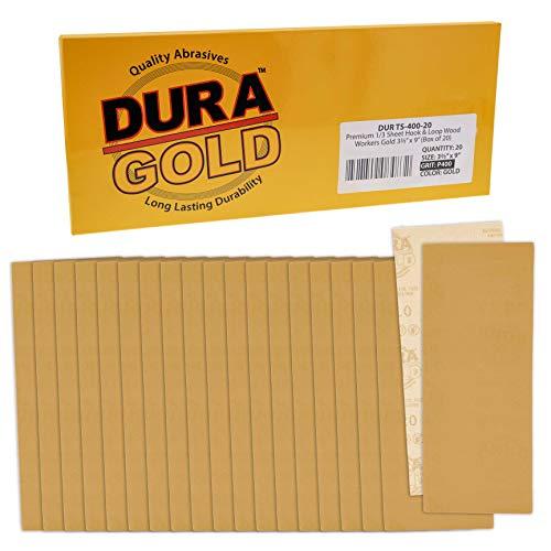20 Lijas Dura-Gold 9.3cm x 23cm Grano 400