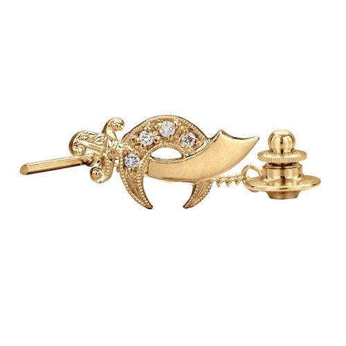 (10k Yellow Gold Diamond Shriner Tie Tac)