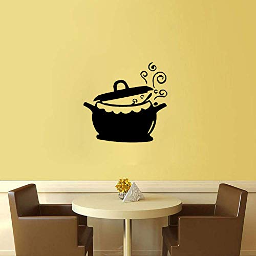 Leguliya Creative Art Soup Pot Sticker Restaurant Kitchen Removable Vinyl Wall Stickers DIY Home Decor Waterproof Wallpaper