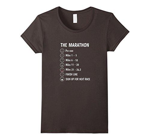 Women's Funny Marathon Runner Running T Shirt 26.2 Race Tee Large Asphalt (Marathon Tshirt)