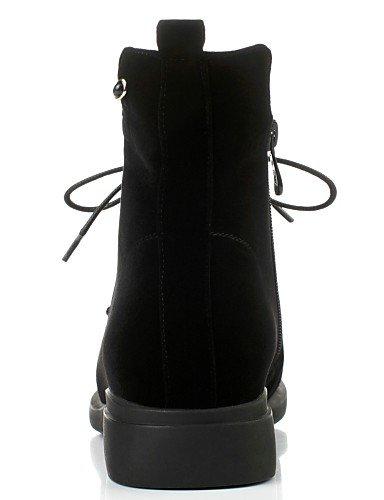 Bottes Cn36 Chaussures La Talon Synthétique Laine Bas Uk4 Femme Décontracté Mode Brown À Arrondi Xzz Noir Habillé Marron Bout us6 Eu36 Rv1vwqx