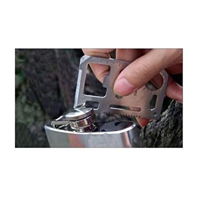 HuaYang Outdoor Multi function Mini Emergency Survival Credit Card Knife camping Tool 11 in 1