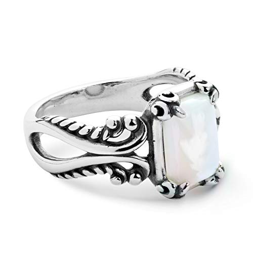 White Mother of Pearl Gemstone Ring - Size 05