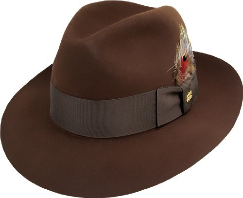 (Stetson Men's Sttson Temple Royal Deluxe Fur Felt Hat, Mink, 7.75)