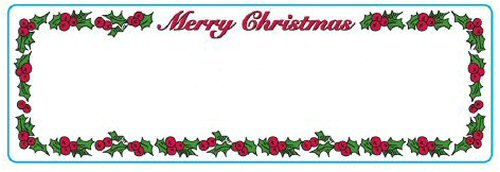 amazon com merry christmas address labels 1 roll 130 labels per