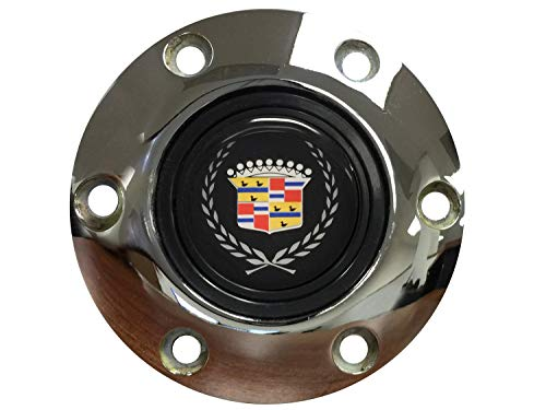 - Volante STE1016CHR Steering Wheel Horn Button-S6 Series (Chrome); Cadillac Emblem