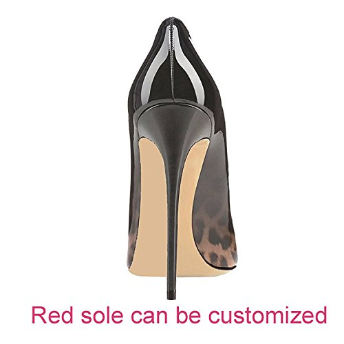 Toe Heels Slip High Shoes Pointed Sexy Women Black Pumps On Leopard for Shoes Maguidern Women's Pumps 1wfvz0B1q