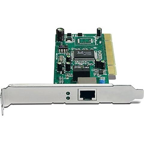 TRENDnet 32-bit 10/100/1000Mbps Copper Gigabit PCI Adapter, Up to 2000Mbps Speed in Full-Duplex, Built-in FIFO (8K/64K) Buffers, (Gigabit Pci Network Adapter)