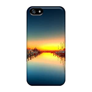 New Fashionable TerryMacPhail GOU21214ZsJY Covers Cases Specially Made For Iphone 5/5s(wonderful Boat Docks In Canal Hdr)