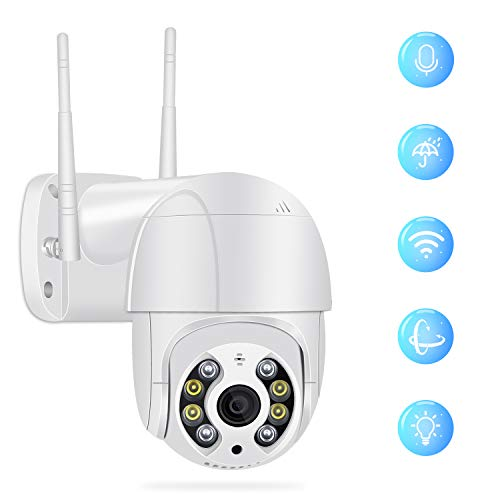 Outdoor Security Camera, Full HD 1080P Security Surveillance Cameras Outdoor Waterproof Wireless PTZ Camera with Night Vision - IP WiFi Cam Surveillance Cam Audio Motion Activated