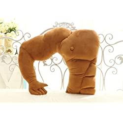 Muscle Man Body Arm Plush Cotton Pillow 58cm×48cm