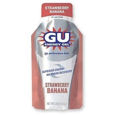 GU Sports Energy Gel - Box of 6 (Strawberry Banana)