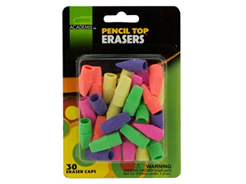 Pencil Top Erasers Set - Pack of 96