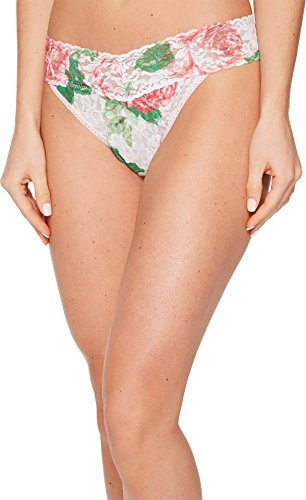 Original Rise Thong Panty (Hanky Panky Blushing Rose Original Rise Thong, One Size, Multi)