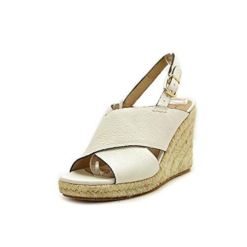 Sandals 7 White 38 M 5 Slingback EU Spiga Rosette Via Esapdrille US Xxqw1IZ1Y