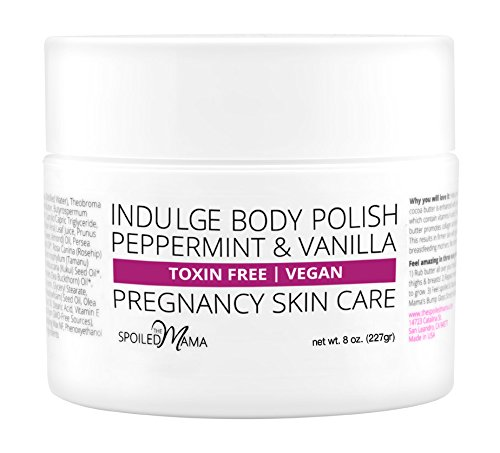 Indulge | Peppermint Body Polish for Stretch Mark Prevention ~ Safe for Pregnancy by The Spoiled Mama