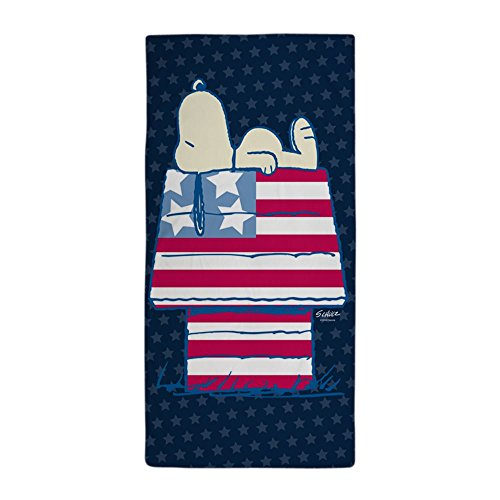 CafePress Snoopy 4Th of July Large Beach Towel, Soft 30