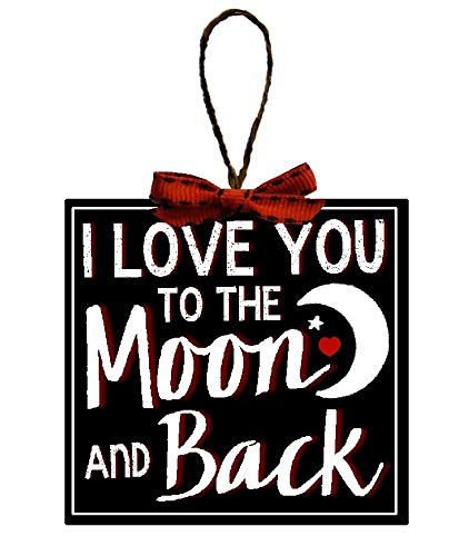 Christmas Decoration I Love You to The Moon and Back Christmas Tree Ornament