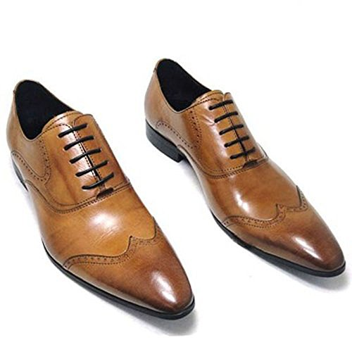 8545f5186604 Fulinken Men Genuine Leather Oxford Shoes Lace up Slip on - Import ...