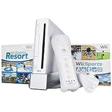 Wii Console w/ Bonus Wii Sports Resort & Wii MotionPlus Bundle (Renewed)