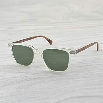 LKVNHP Gafas De Sol Claras Hombres Diseñador De Marca ...