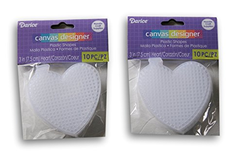 Heart Needlepoint Canvas (Darice Plastic Canvas No. 7 Heart - 3 - 20pc)