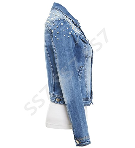 Bleu Ss7 Blouson Femme Blouson Jeans Femme Ss7 Jeans Bleu 74nH6qH0