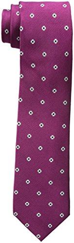 Berry Tie - Rooster Men's Neat Necktie, Berry, One Size