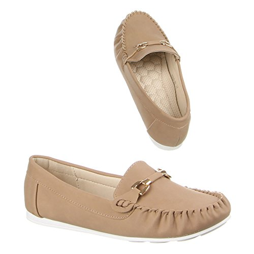 Design zapatilla baja claro marrón Marrón Ital Mujer g6w6q