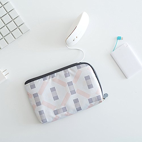 Digital Accessory Clutch - Electronics Accessories Packing Organizer Storage Bag-Digital Carrying Pouch Multifunction Cash Clutch Purse Smartphone Charger Headset Data Cable Case for With Mesh Handbag (white)