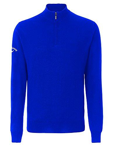 Callaway Merino 1/4 zip sweater Magnetic Blue M
