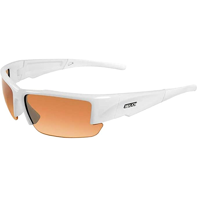 b1ac489476c Amazon.com  Stealth Adult Sun Glasses Frame Color  White  Clothing