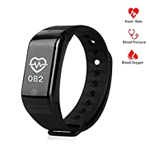 Fitness Tracker Watch with Heart Rate Monitor,Blood Pressure and Blood Oxygen Monitor,Pedometer for Android or IOS Phone
