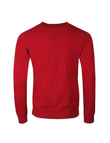 Zip Hombre 617 Cardigan Chaqueta Rosso Fine Super para Lambswool Gant Punto q8COtwn
