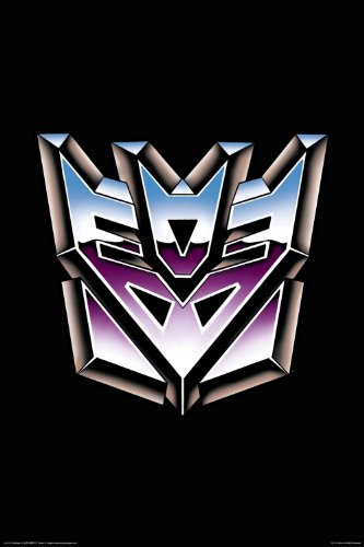 Aquarius Transformers Decepticon Logo Poster, 24-Inch by 36-Inch
