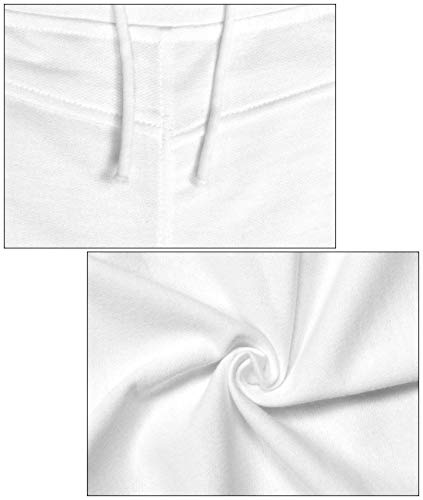 Pantalones Mujer Vaqueros Pitillo Ropa Slim Blanco Cordón De Alta Fit Rasgados Elásticos Con Color Sólido Cintura p1anpq